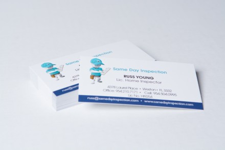 Business cards with matte finish